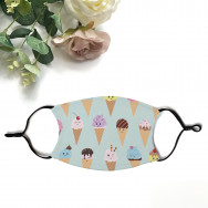 Personalised Cute Ice Cream Print Face Mask With Filters