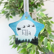 Personalised Personalised Christmas Eve Silhouette Bauble