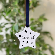 Personalised Personalised Ceramic Star Christmas Bauble