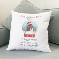 Personalised Christmas Eve Cushion Cover