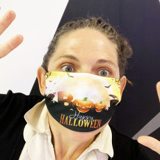 Personalised Boo Halloween Face Mask