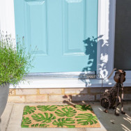Personalised Banana Leaf Coir Doormat
