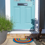 Personalised Rainbow Coir Doormat