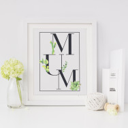 Personalised Mothers Day Succulent Cactus Print