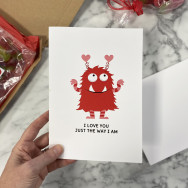Personalised Funny Monster Valentine's Card