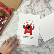 Personalised Funny You Are Annoying But I Love You Valentine's Card
