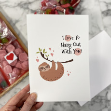 Personalised I Love To Hang With You Funny Valentine's Card