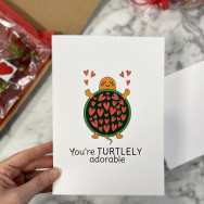 Personalised You Are Turtlely Awesome Funny Valentine's Card
