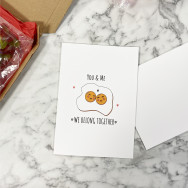 Personalised Cute You And Me Belong Together Valentine's Card