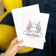 Personalised Happy Easter Bunny Card