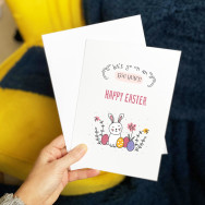Personalised Lets Go On An Egg Hunt Easter Card