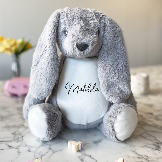 Personalised Easter Bunny First Easter Teddy And Pyjama Case