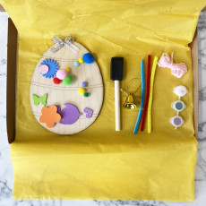 Personalised Childrens Letterbox Easter Craft Kit