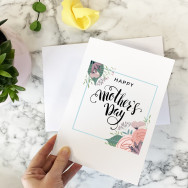 Personalised Mother's Day Flower Wreath Card