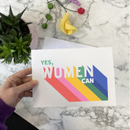 Personalised Yes Women Can Card