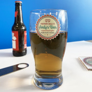 Personalised Personalised Printed Pint Glass