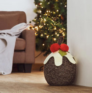 Personalised Christmas Pudding Door Stop