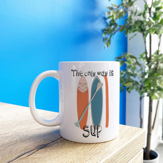 Personalised The Only Way Is Sup Paddleboard Mug