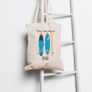 Personalised The Only Way Is Sup Tote Bag