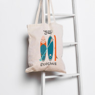 Personalised 'Sup Beaches Tote Bag