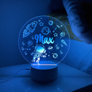 Personalised Personalised LED Space Theme Night Light