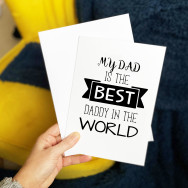 Personalised Best Daddy In The World Father's Day Card
