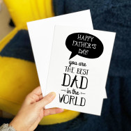 Personalised Best Dad In The World Father's Day Card