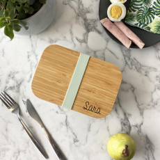 Personalised Personalised Bamboo Lunch Box