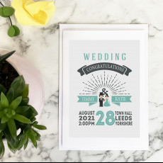 Personalised Personalised Wedding Day Card With Wedding Details