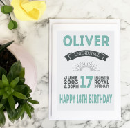 Personalised Personalised Special Date 18th Birthday Card