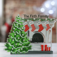Personalised Personalised Family Christmas Fireplace Ornament