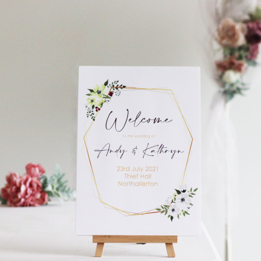 Personalised Welcome To Our Wedding Personalised Sign