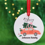 Personalised Personalised Family Christmas Car Bauble