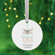 Personalised Personalised Baby's First Christmas Bauble