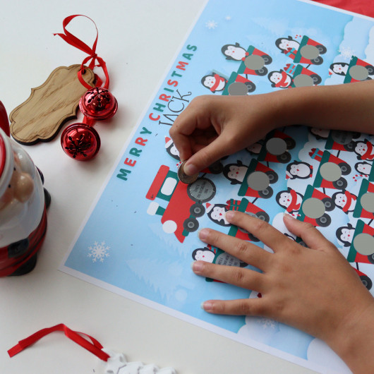 Personalised Personalised Penguin Scratch Off Activity Calendar