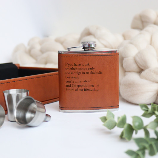 Personalised Funny Personalised Hip Flask Gift Set