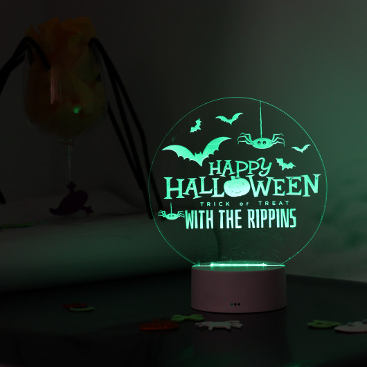 Personalised Personalised Halloween LED Light Up Sign