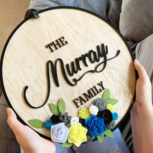 Personalised Personalised Wooden Family Sign